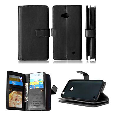 pu couro + TPU tampa traseira carteira titulares de cartão tanto ranhura + dinheiro + moldura caso de telefone magnética para nokia Lumia