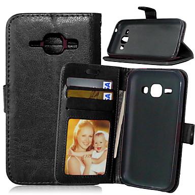 Para Samsung Galaxy Capinhas Porta-Cartão / Carteira / Com Suporte / Flip Capinha Corpo Inteiro Capinha Cor Única Couro PU SamsungJ7 / J5