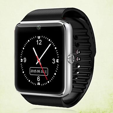 זול שעונים חכמים-GT08 גברים חכמים שעונים Android Blootooth מסך מגע שיחות ללא מגע יד מצלמה Audio Anti-האבוד טיימר שעון עצר מד צעדים מזכיר שיחות מד גובה / לוח שנה / שלט רחוק / 0.3 MP / שליטה במדיה / שליטה בהודעות
