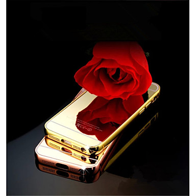 Voor iPhone 5 hoesje Spiegel hoesje Achterkantje hoesje Effen kleur Hard Acryl iPhone SE/5s/5