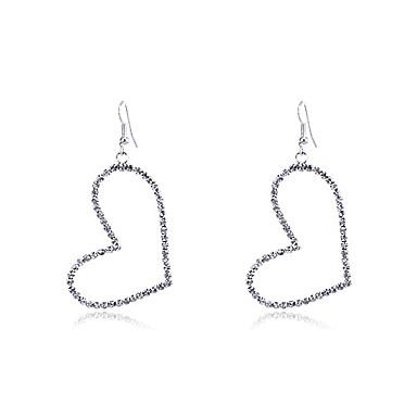 Dames Druppel oorbellen Hart Kristal Verzilverd Hart Sieraden Feest Dagelijks Causaal Kostuum juwelen