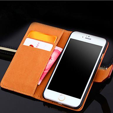 Capinha Para Apple iPhone X iPhone 8 iPhone 8 Plus iPhone 6 iPhone 6 Plus Porta-Cartão Carteira Com Suporte Flip Capa Proteção Completa