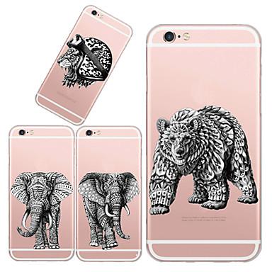 Capinha Para Capinha iPhone 5 Ultra-Fina Transparente Estampada Capa Traseira Animal Macia TPU para iPhone SE/5s iPhone 5
