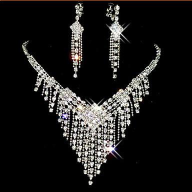 Kwastje / Lang Sieraden set - Kubieke Zirkonia, Gesimuleerde diamant Tupsu, Feest omvatten Wit Voor / Oorbellen / Kettingen