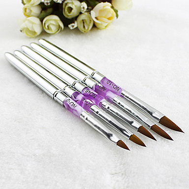 1pcs prata gel uv nail art acrílico decorações escovas pena pintura dicas de ferramentas manicure