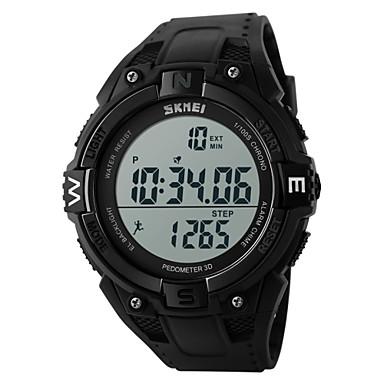 SKMEI Heren Sporthorloge Polshorloge Digitaal horloge Digitaal Alarm Kalender Chronograaf Waterbestendig Sporthorloge LCD Rubber Band