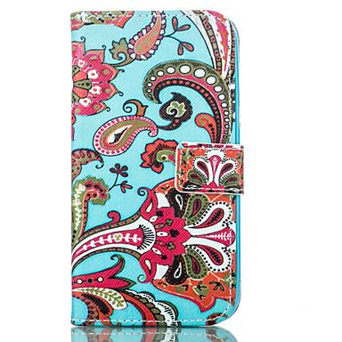 Kompatibilitás Samsung Galaxy tok tokok Pénztárca Kártyatartó Állvánnyal Teljes védelem Case Virág Puha Műbőr Bőr mert Samsung J5 J1