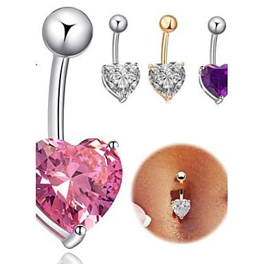 Δαχτυλίδι / Δακτύλιος της κοιλιάς - Ανοξείδωτο Ατσάλι Καρδιά Μοναδικό, Μοντέρνα Γυναικεία Κοσμήματα Σώματος Για Καθημερινά / Causal