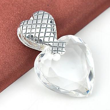 Heren Dames Hangers Hart Juweeltje Verzilverd Topaas Liefde Hart Sieraden Voor Bruiloft Feest Dagelijks Causaal Sport
