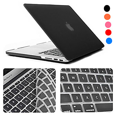 MacBook Case Cases With Keyboard Solid Colored ABS for Macbook Pro 15-inch / MacBook Air 13-inch / Macbook Pro 13-inch