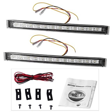 2 x 12 LED DRL auto vrachtwagen dag loopt richtingaanwijzer lamp 12v