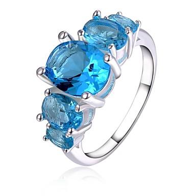 Γυναικεία Κρυστάλλινο Επάργυρο Δακτύλιος Δήλωσης - Δαχτυλίδι Για Γάμου / Πάρτι / Καθημερινά