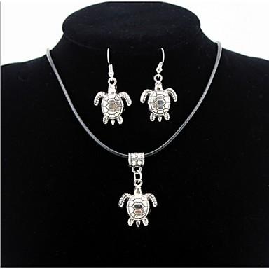 Homens / Mulheres Conjunto de jóias Brincos / Colares - Prata Para Diário / Casual