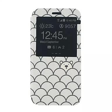 hoesje Voor Samsung Galaxy Samsung Galaxy hoesje met standaard met venster Flip Patroon Volledige behuizing Cartoon PU-leer voor Xcover 3