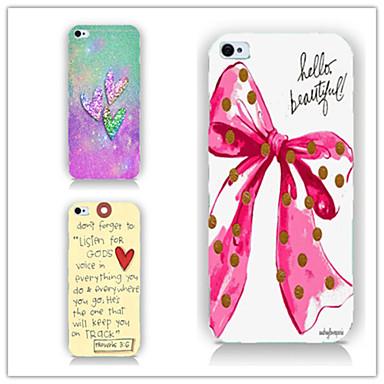 arco e arco amor e amor padrão telefone pc caso de volta caso cobertura para iPhone5 / 5s