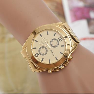 Masculino Mulheres Casal Relógio de Moda Quartzo suíço Designer Aço Inoxidável Banda Dourada Branco Amarelo