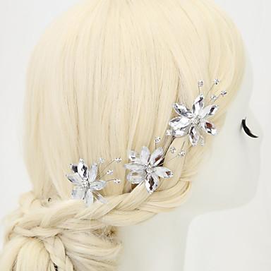 legering / strass haarspelden bruiloft / feest 3st elegante stijl