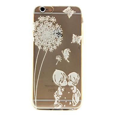 Para iPhone 6 iPhone 6 Plus Case Tampa Transparente Estampada Capa Traseira Capinha dandelion Macia PUT para iPhone 6s Plus iPhone 6 Plus