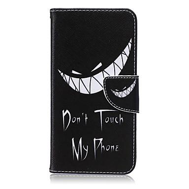 Capinha Para Samsung Galaxy Samsung Galaxy Note Porta-Cartão Carteira Com Suporte Flip Capa Proteção Completa Palavra / Frase PU Leather