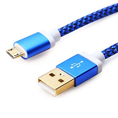 halpa Kaapelit ja adapterit-Mikro USB Kaapeli 1m-1.99m / 3ft-6ft Muovit USB-kaapelisovitin Käyttötarkoitus Samsung
