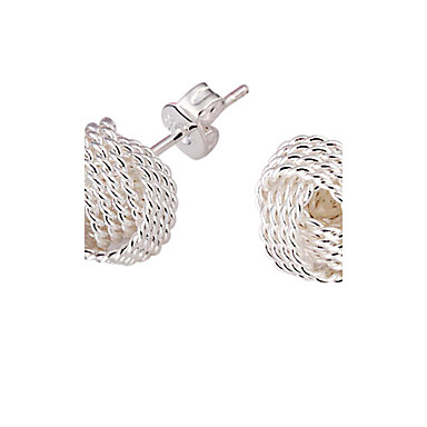 Women's Stud Earrings - Silver Plated Elegant, Bridal Silver For Wedding / Party / Daily
