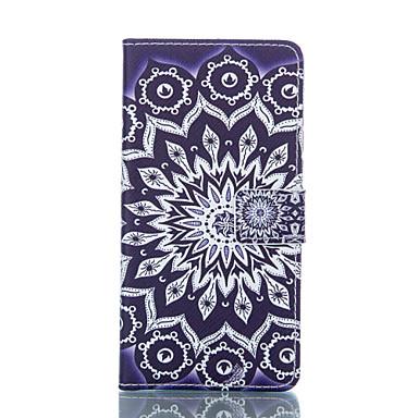 Capinha Para LG Capinha LG Carteira Porta-Cartão Com Suporte Flip Corpo Inteiro Mandala Rígida Couro Ecológico para LG L90 LG G3 Beat /