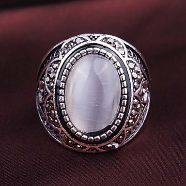 Dames Geometrisch Statement Ring - Verguld Modieus One-Size Wit / Schermkleur Voor Feest