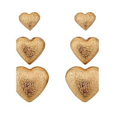 Mulheres Conjunto de Jóias Brincos Curtos Amor Coração Estilo simples Liga Coração Jóias Festa Diário Casual