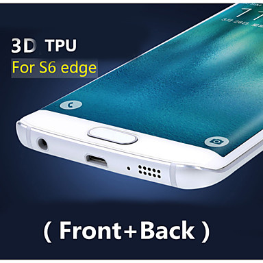 3d cobertura completa TPU de alta definição prevenir protetor zero tela para Samsung Galaxy S6 borda (frente + traseira)
