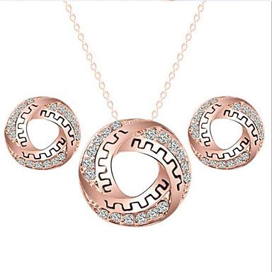 Dames Sieraden Set Legering Cirkelvorm Bruiloft Feest Dagelijks Causaal Oorbellen Kettingen Kostuum juwelen