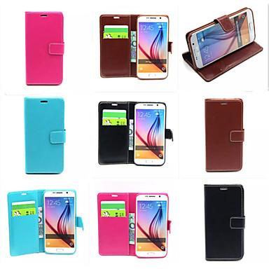 Para Samsung Galaxy Capinhas Porta-Cartão / Carteira / Com Suporte / Flip Capinha Corpo Inteiro Capinha Cor Única Couro PU SamsungS7 edge