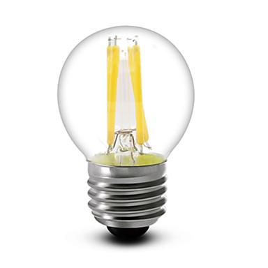 E26/E27 Lâmpadas de Filamento de LED G45 4 leds COB Regulável Branco Quente 400lm 2700K AC 220-240V