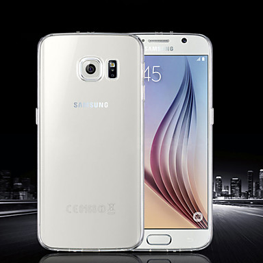 Capinha Para Samsung Galaxy Samsung Galaxy Capinhas Ultra-Fina Transparente Capa traseira Côr Sólida TPU para S6 edge plus S6 edge S6 S5