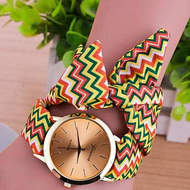 Dames Modieus horloge Kwarts Leer Band Meerkleurig