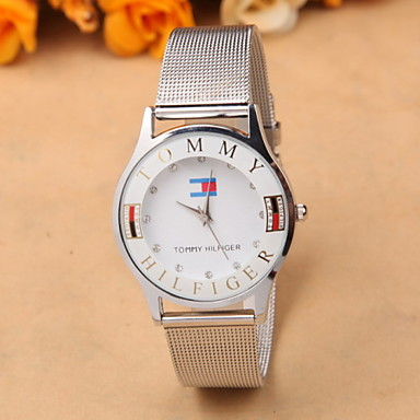 dcc3868b2 الأوروبية والأمريكية بيع تجارة الفضة غرامة السيدات حزام شبكة أزياء الماس  ساعات