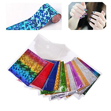 Autocolantes de Unhas 3D - Abstracto - para Dedo - de PVC - com 25pcs nail foil (send by random different colors) - 6cmX21cm each piece