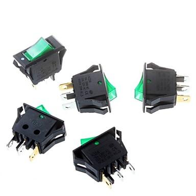 interruptor verde 16 * 32 milímetros chave tripé 3p poder roqueiro