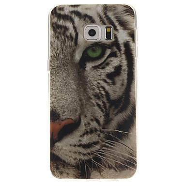Para Samsung Galaxy Capinhas Estampada Capinha Capa Traseira Capinha Animal TPU Samsung S6 edge plus / S6 edge / S6