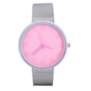 Dames Modieus horloge Kwarts Band Zilver Zwart Geel Fuchsia Blauw Roze