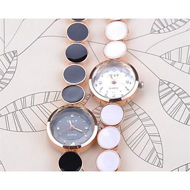 Dames Armbandhorloge Modieus horloge Vrijetijdshorloge Kwarts Vrijetijdshorloge Legering Band Elegant Zwart Wit