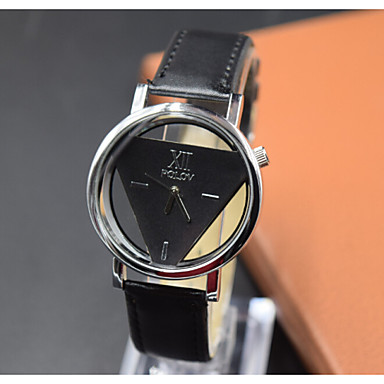 Heren Modieus horloge Kwarts PU Band Zwart Wit
