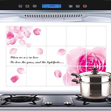 Botânico / Vida Imóvel / Floral / Paisagem Wall Stickers Autocolantes de Aviões para Parede , Aluminum Foil 45x75x0.1cm