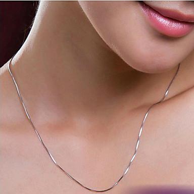 olcso Divat nyaklánc-Női Nyakláncok Ezüstözött hölgyek Ezüst Nyakláncok Ékszerek Kompatibilitás Esküvő Parti Napi Hétköznapi