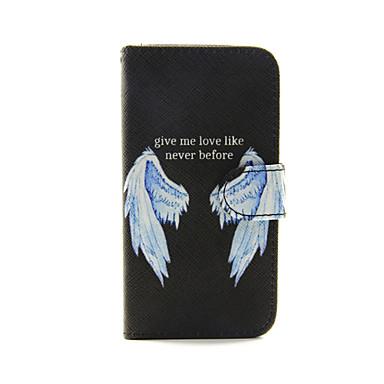 Capinha Para Capinha iPhone 5 Porta-Cartão Com Suporte Corpo Inteiro Penas Rígida Couro Ecológico para iPhone SE/5s iPhone 5