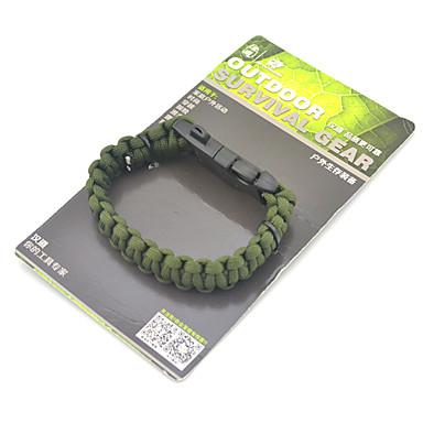 Survival Armband / Survival Whistle / Fire Starter Wandelen / Kamperen / Reizen Fluitje / Overleving Nylon / Legering