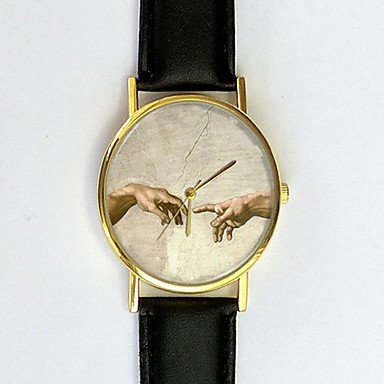 Dames Modieus horloge Kwarts Vrijetijdshorloge PU Band Elegant Zwart Wit Bruin Groen Roze