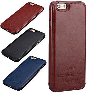 hzbyc®new luxe lederen case voor metalen geïntegreerd kader Case voor Apple iPhone 6plus / 6s plus (verschillende kleuren)