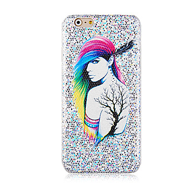 fantasie vrouw patroon glitter harde Cover Case voor iphone6 ​​plus / 6s plus