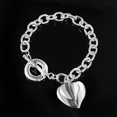 Feminino Pulseiras em Correntes e Ligações Original Moda bijuterias Prata de Lei Jóias Jóias Para Casamento Festa Diário Casual