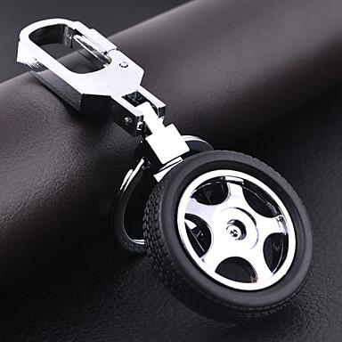 forma de roda do carro chaveiro diy para homens& mulheres